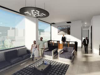 Una sala de estar llena de muebles y un reloj en Vivaio