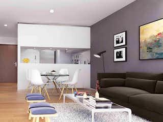 Una sala de estar llena de muebles y una televisión de pantalla plana en Lago Mask 229