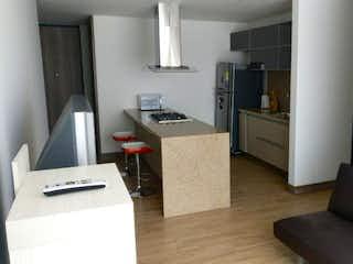 Una sala de estar llena de muebles y una televisión de pantalla plana en Apartamento en venta en Bella Suiza, de 59mtrs2