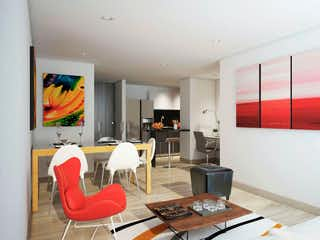 Una sala de estar llena de muebles y una televisión de pantalla plana en Nova 72