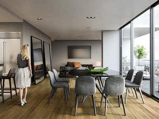 Una sala de estar llena de muebles y una televisión de pantalla plana en Nova Bosques