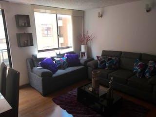 Una sala de estar llena de muebles y una ventana en Apartamento en venta en Tuna Alta, 59mt con balcon