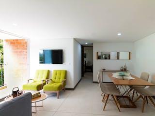 Una sala de estar llena de muebles y una televisión de pantalla plana en Bosques de Sauces