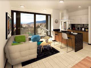 Una sala de estar llena de muebles y una gran ventana en Mitre 21