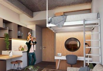 Vivienda nueva, Next Living, Apartamentos en venta en Barrio Chapinero con 21m²