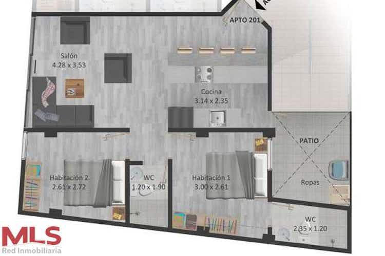 No se ha identificado el tipo de imágen para apartamento en venta en casco urbano el retiro, de 66,13mtrs2