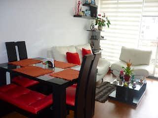Una sala de estar llena de muebles y una chimenea en Apartamento en venta en San Antonio Norte, de 59,94mtrs2