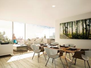 Una sala de estar llena de muebles y una ventana en Taman Condesa