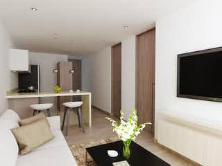 Una sala de estar llena de muebles y una televisión de pantalla plana en Alfama