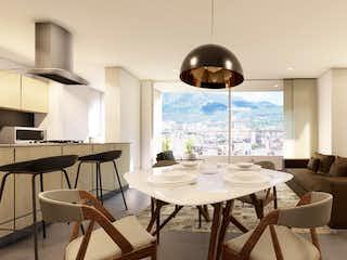 Una sala de estar llena de muebles y una gran ventana en Laureles de Murano