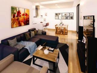 Una sala de estar llena de muebles y una televisión de pantalla plana en Arizona 114