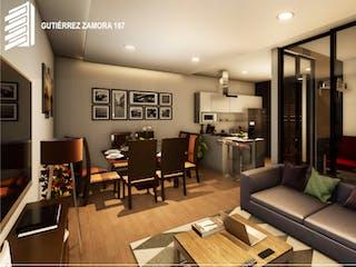 Una sala de estar llena de muebles y una televisión de pantalla plana en Gutierrez Zamora 167