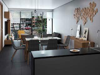 Una sala de estar llena de muebles y una mesa en Popocatépetl 168