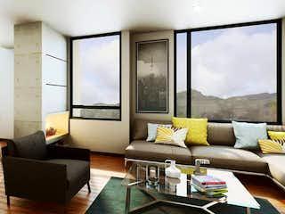 Una sala de estar llena de muebles y una gran ventana en Parque BS