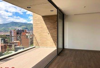 Apartamento en La Abadia, Envigado - 106mt, tres alcobas, balcon