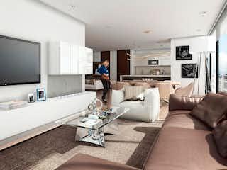 Una sala de estar llena de muebles y una televisión de pantalla plana en Urban - Atenea +
