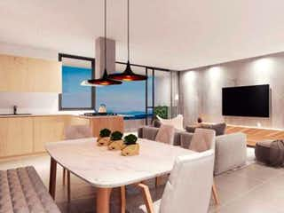 Una sala de estar llena de muebles y una televisión de pantalla plana en Apartamento en venta en San Miguel de 3 hab. con Piscina...