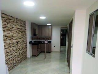 Un cuarto de baño con un inodoro y un lavabo en Apartamento en venta en Cabañitas, 90mt