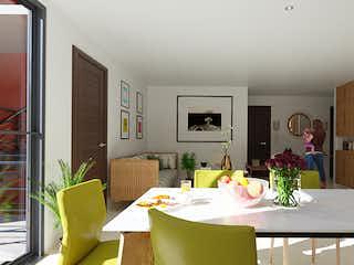 Una sala de estar llena de muebles y una televisión de pantalla plana en Puerta Clavería