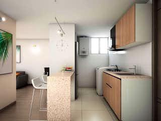 Una cocina con una estufa de fregadero y nevera en Scala 74