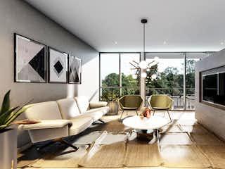 Una sala de estar llena de muebles y una televisión de pantalla plana en Ciprés Casagrande