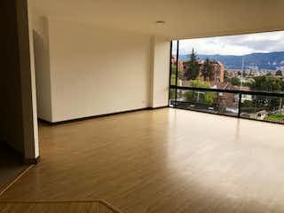 Una vista de una sala de estar desde una ventana en Apartamento en venta en Suba Rincon de tres alcobas
