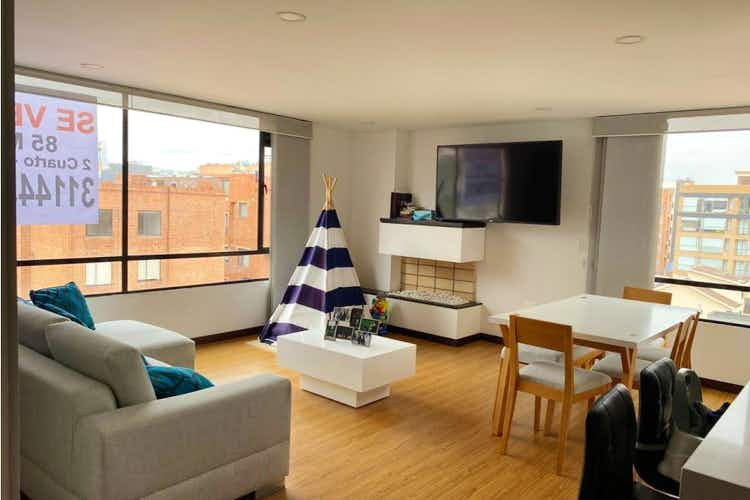 Portada Apartamento en venta en Santa Paula, 89mt con chimenea