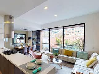 Una cocina con un gran ventanal y un gran ventanal en Menta