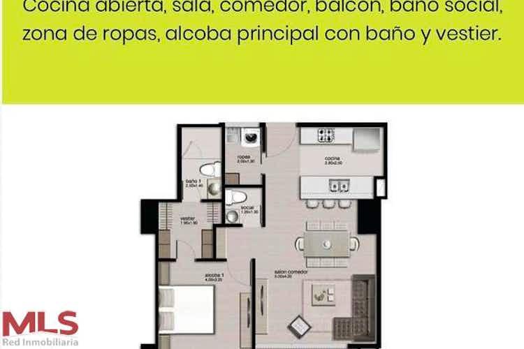 No se ha identificado el tipo de imágen para apartamento n¿en venta en los balsos, 67mt con balcon