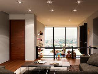 Una sala de estar llena de muebles y una ventana en Club Residencial Bosques