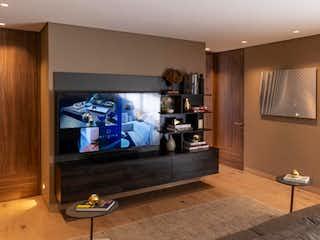 Una sala de estar llena de muebles y una televisión de pantalla plana en Origina Pedregal