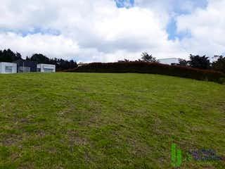 Un campo herboso con un campo en el fondo en Lote en venta en Acuarela, de 1200mtrs2