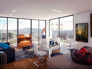 Una sala de estar llena de muebles y una ventana en Bosque Sabana