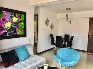 Una sala de estar llena de muebles y una televisión de pantalla plana en El Rosal
