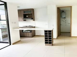 Una cocina con fregadero y nevera en Apartamento en venta en Barro Blanco de 2 Habitaciones