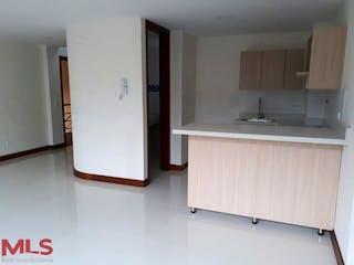 Una cocina con nevera y fregadero en Apartamento en venta en El Velódromo, 86mt con balcon