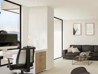 Una sala de estar llena de muebles y una televisión de pantalla plana en Terre Living