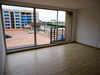 Una vista de un balcón con una gran ventana en Apartamento en venta en Casco Urbano Cajicá, de 79mtrs2