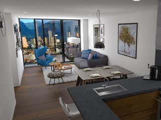 Una sala de estar llena de muebles y una ventana en Roble