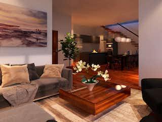 Una sala de estar llena de muebles y una planta en maceta en Concepcion Beistegui