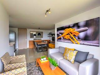Una sala de estar llena de muebles y una televisión de pantalla plana en Apartamento en venta en La Ferrería, de 62mtrs2