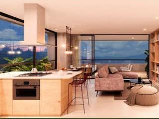 Cocina con fogones y microondas en Apartamento en venta en Las Palmas, de 87,6mtrs2
