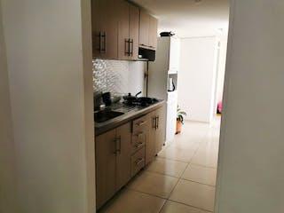 Una cocina con una estufa de fregadero y nevera en Apartamento en venta en Santa Mónica, de 78mtrs2