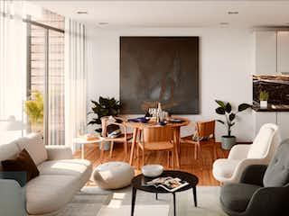 Una sala de estar llena de muebles y una gran ventana en Casa Palenque