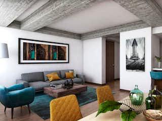 Una sala de estar llena de muebles y una ventana en Universal