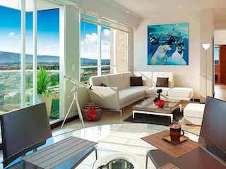 Una sala de estar llena de muebles y una televisión de pantalla plana en Tamesis 175