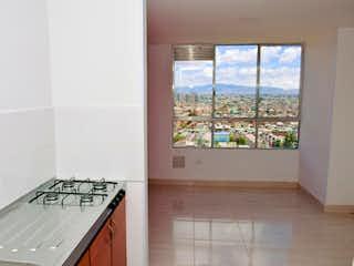 Una cocina con un lavabo y una ventana en Apartamento en Venta Villa Elisa de 38m2