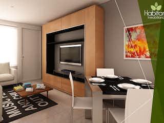 Una sala de estar llena de muebles y una televisión de pantalla plana en Acero 65