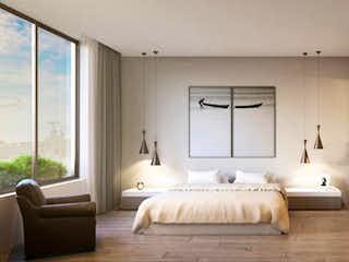 Una habitación de hotel con una cama y un sofá en Apartamento para estrenar 3 habitaciones 4 baños (ultimo de 3 habit)