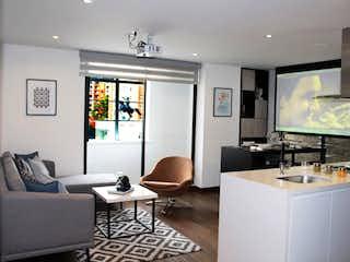 Una sala de estar llena de muebles y una televisión de pantalla plana en Equilibrium 2